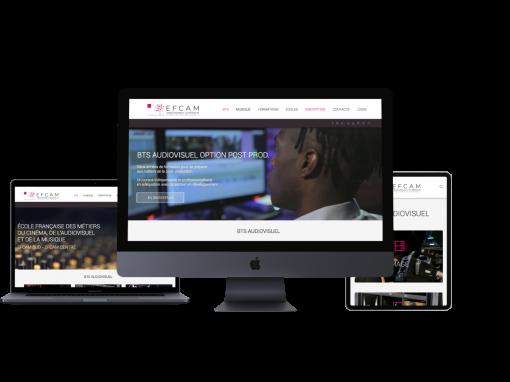 """Développement du site web """"EFCAM"""""""