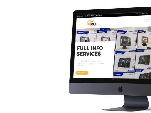 """Développement du site web """"Full Info Services"""""""