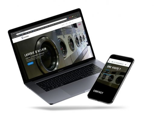 """Développement du site web """"Laverie d'Allain"""""""