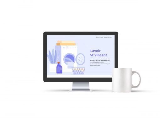 """Développement du site web """"Lavoir St Vincent"""""""