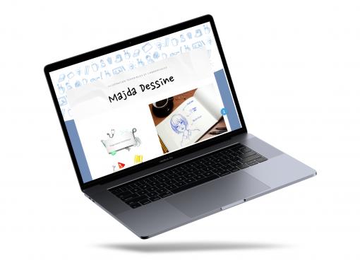 """Développement du site web """"Majda Dessine"""""""