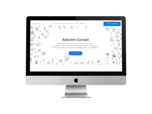 """Développement du site web """"Adorem Conseil"""""""
